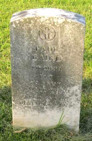 BAIRD, PAUL - Franklin County, Ohio   PAUL BAIRD - Ohio Gravestone Photos