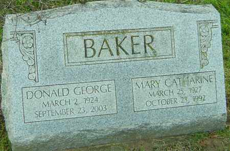 BAKER, DONALD GEORGE - Franklin County, Ohio | DONALD GEORGE BAKER - Ohio Gravestone Photos