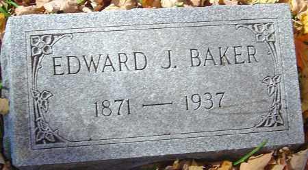 BAKER, EDWARD J - Franklin County, Ohio   EDWARD J BAKER - Ohio Gravestone Photos