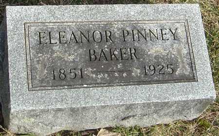 PINNEY BAKER, ELEANOR - Franklin County, Ohio | ELEANOR PINNEY BAKER - Ohio Gravestone Photos