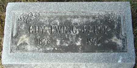BAKER, GUY EWING - Franklin County, Ohio | GUY EWING BAKER - Ohio Gravestone Photos