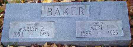 BAKER, MERL L - Franklin County, Ohio | MERL L BAKER - Ohio Gravestone Photos