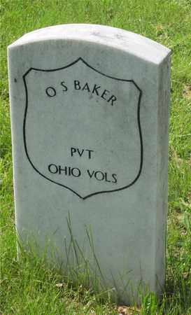 BAKER, O.S. - Franklin County, Ohio   O.S. BAKER - Ohio Gravestone Photos