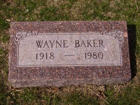 BAKER, WAYNE - Franklin County, Ohio | WAYNE BAKER - Ohio Gravestone Photos