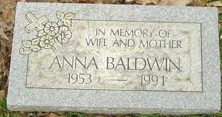 BALDWIN, ANNA - Franklin County, Ohio | ANNA BALDWIN - Ohio Gravestone Photos