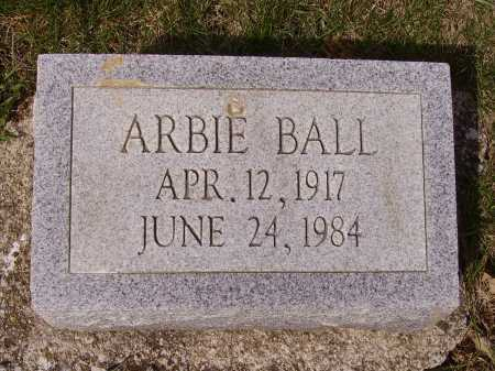 BALL, ARBIE - Franklin County, Ohio | ARBIE BALL - Ohio Gravestone Photos