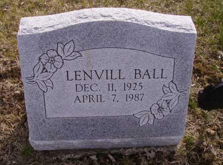 BALL, LENVILL - Franklin County, Ohio   LENVILL BALL - Ohio Gravestone Photos