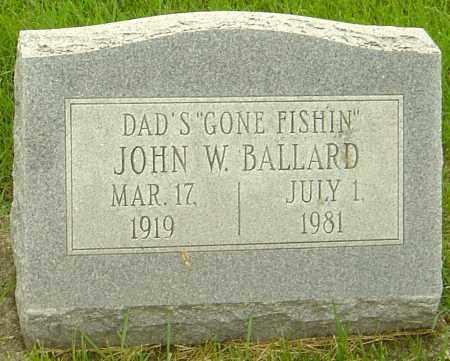 BALLARD, JOHN W - Franklin County, Ohio   JOHN W BALLARD - Ohio Gravestone Photos