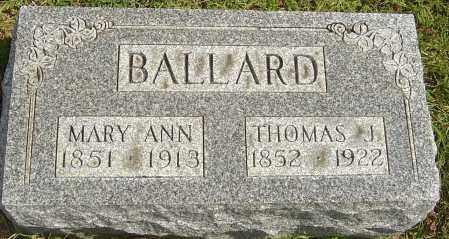 BALLARD, MARY ANN - Franklin County, Ohio | MARY ANN BALLARD - Ohio Gravestone Photos