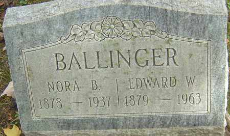 BALLINGER, EDWARD W - Franklin County, Ohio | EDWARD W BALLINGER - Ohio Gravestone Photos