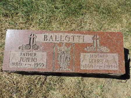 BALLOTTI, JUILIO - Franklin County, Ohio | JUILIO BALLOTTI - Ohio Gravestone Photos