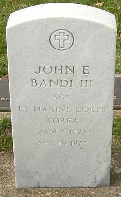 BANDI, JOHN E - Franklin County, Ohio | JOHN E BANDI - Ohio Gravestone Photos