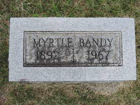 BANDY, MYRTLE - Franklin County, Ohio   MYRTLE BANDY - Ohio Gravestone Photos