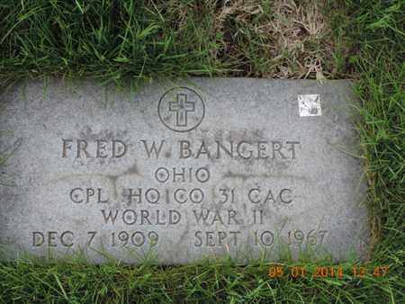 BANGERT, FRED W - Franklin County, Ohio | FRED W BANGERT - Ohio Gravestone Photos