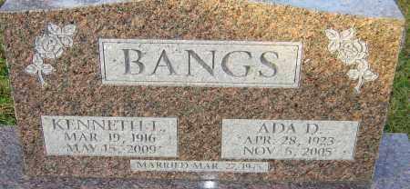 TYRRELL BANGS, ADA - Franklin County, Ohio | ADA TYRRELL BANGS - Ohio Gravestone Photos