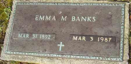 BANKS, EMMA M - Franklin County, Ohio | EMMA M BANKS - Ohio Gravestone Photos