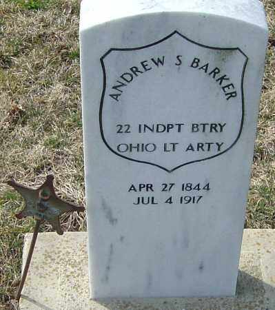 BARKER, ANDREW S - Franklin County, Ohio | ANDREW S BARKER - Ohio Gravestone Photos
