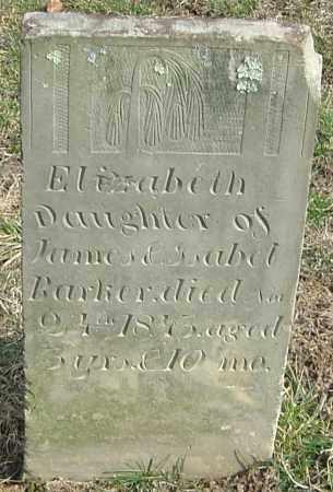 BARKER, ELIZABETH - Franklin County, Ohio | ELIZABETH BARKER - Ohio Gravestone Photos