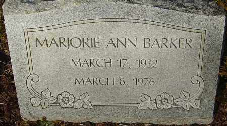 YOUNG BARKER, MARJORIE ANN - Franklin County, Ohio   MARJORIE ANN YOUNG BARKER - Ohio Gravestone Photos