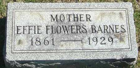 FLOWERS BARNES, EFFIE - Franklin County, Ohio | EFFIE FLOWERS BARNES - Ohio Gravestone Photos