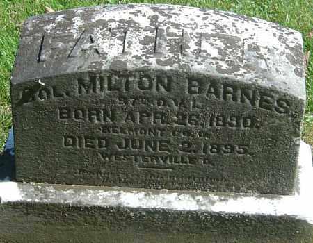 BARNES, MILTON - Franklin County, Ohio   MILTON BARNES - Ohio Gravestone Photos
