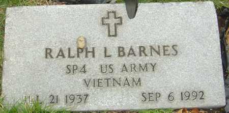 BARNES, RALPH L - Franklin County, Ohio   RALPH L BARNES - Ohio Gravestone Photos
