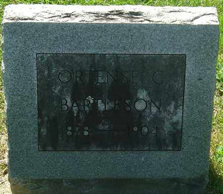 BARTLESON, ORTENSE C - Franklin County, Ohio | ORTENSE C BARTLESON - Ohio Gravestone Photos