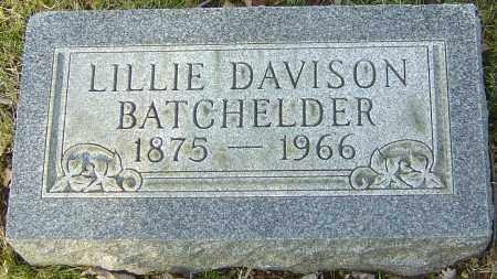 BATCHELDER, LILLIE - Franklin County, Ohio | LILLIE BATCHELDER - Ohio Gravestone Photos