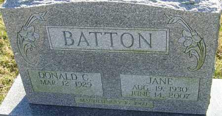 BATTON, JANE - Franklin County, Ohio | JANE BATTON - Ohio Gravestone Photos