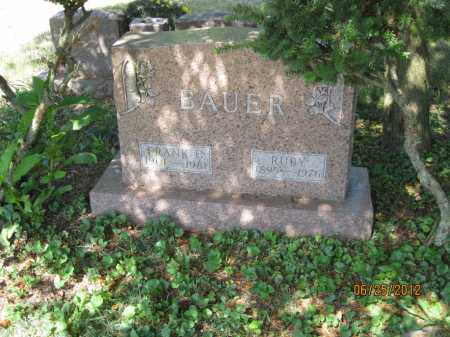 WOODCOCK BAUER, RUBY - Franklin County, Ohio | RUBY WOODCOCK BAUER - Ohio Gravestone Photos