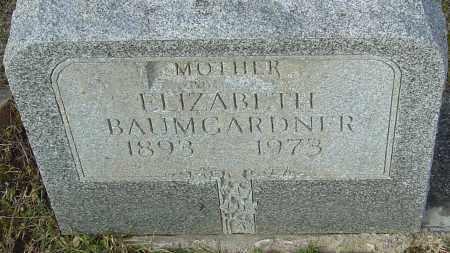 BAUMGARDNER, ELIZABETH - Franklin County, Ohio | ELIZABETH BAUMGARDNER - Ohio Gravestone Photos