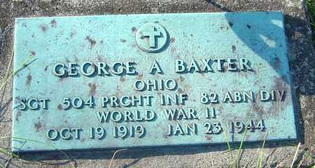BAXTER, GEORGE A - Franklin County, Ohio   GEORGE A BAXTER - Ohio Gravestone Photos