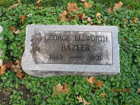 BAZLER, GEORGE ELSWORTH - Franklin County, Ohio | GEORGE ELSWORTH BAZLER - Ohio Gravestone Photos