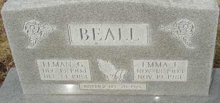 BEALL, EMMA - Franklin County, Ohio | EMMA BEALL - Ohio Gravestone Photos