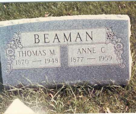 BEAMAN, ANNE C. - Franklin County, Ohio | ANNE C. BEAMAN - Ohio Gravestone Photos