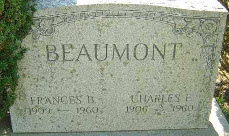 BOWER BEAUMONT, FRANCES - Franklin County, Ohio | FRANCES BOWER BEAUMONT - Ohio Gravestone Photos