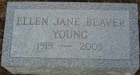 BEAVER YOUNG, ELLEN JANE - Franklin County, Ohio | ELLEN JANE BEAVER YOUNG - Ohio Gravestone Photos