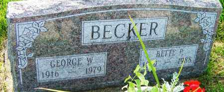BECKER, BETTE P - Franklin County, Ohio | BETTE P BECKER - Ohio Gravestone Photos