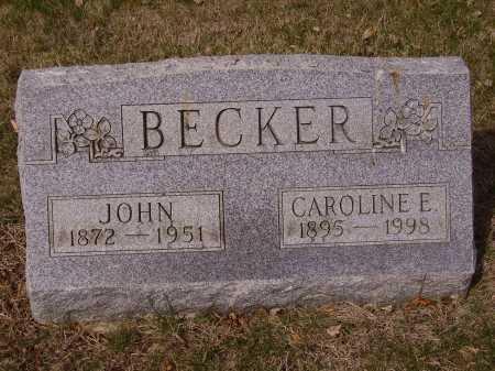 BECKER, CAROLINE - Franklin County, Ohio | CAROLINE BECKER - Ohio Gravestone Photos