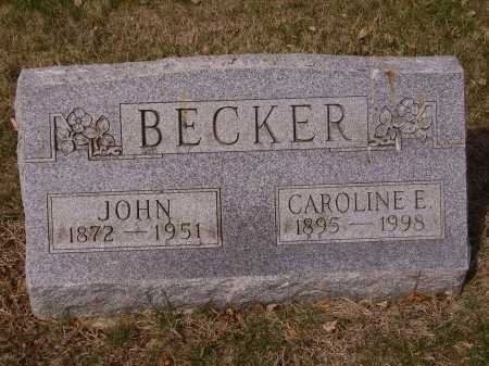 BECKER, JOHN - Franklin County, Ohio | JOHN BECKER - Ohio Gravestone Photos