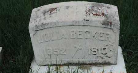 BECKER, JULLA - Franklin County, Ohio   JULLA BECKER - Ohio Gravestone Photos