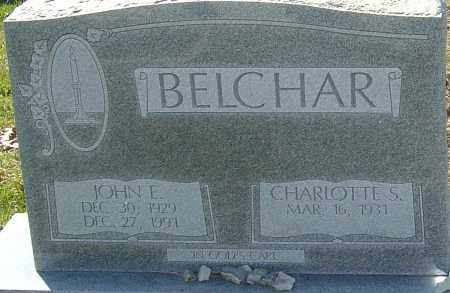BELCHAR, JOHN E - Franklin County, Ohio | JOHN E BELCHAR - Ohio Gravestone Photos
