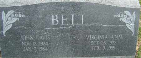 BELL, JOHN DAVIS - Franklin County, Ohio | JOHN DAVIS BELL - Ohio Gravestone Photos