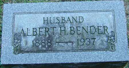 BENDER, ALBERT H - Franklin County, Ohio | ALBERT H BENDER - Ohio Gravestone Photos