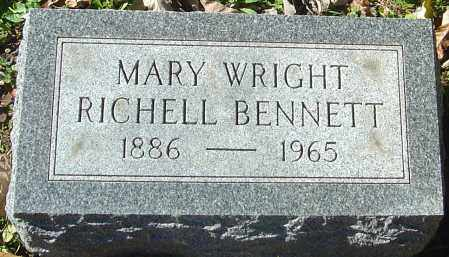 RICHELL BENNETT, MARY WRIGHT - Franklin County, Ohio | MARY WRIGHT RICHELL BENNETT - Ohio Gravestone Photos