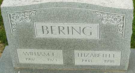 BERING, WILLIAM E - Franklin County, Ohio | WILLIAM E BERING - Ohio Gravestone Photos