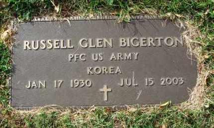 BIGERTON, RUSSELL GLEN - Franklin County, Ohio | RUSSELL GLEN BIGERTON - Ohio Gravestone Photos