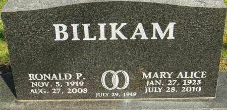 BILIKAM, MARY ALICE - Franklin County, Ohio | MARY ALICE BILIKAM - Ohio Gravestone Photos