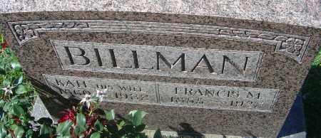 BILLMAN, FRANCIS MARION - Franklin County, Ohio | FRANCIS MARION BILLMAN - Ohio Gravestone Photos
