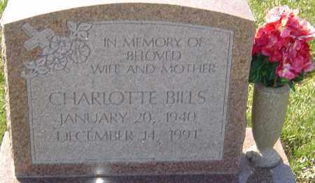 BILLS, CHARLOTTE - Franklin County, Ohio | CHARLOTTE BILLS - Ohio Gravestone Photos